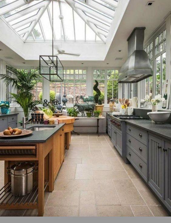 La cucina nella serra