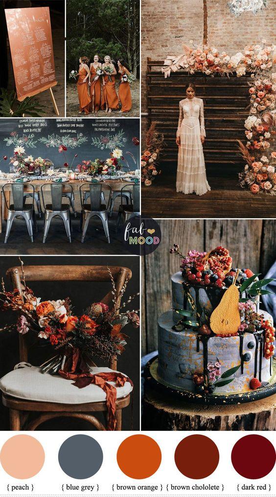 colori per le nozze d'autunno