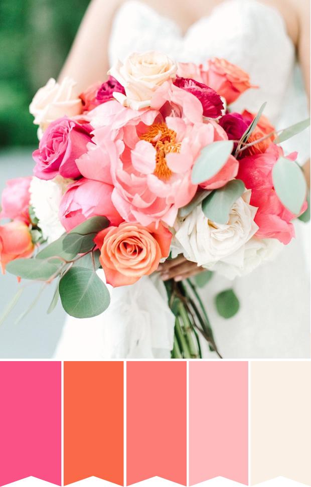 bouquet da sposa colorati