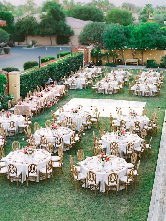 Le tavole per le nozze