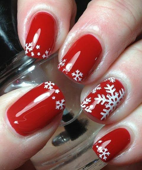 Nail art per le feste natalizie